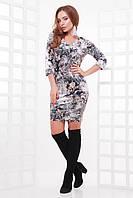 Платье Виолетта принт 3 (42-50)