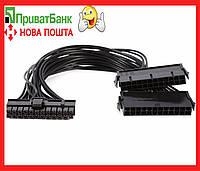 Синхронизатор двух блоков толстый кабель 18AWG( Майнинг, райзер,riser)