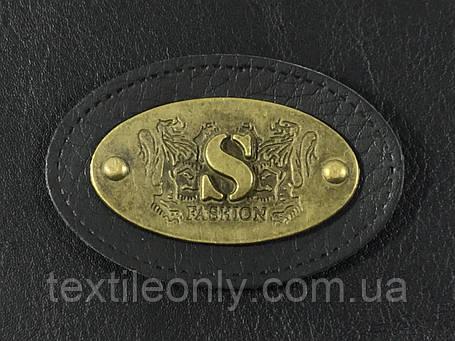 Нашивка S fashion черная 55х40 мм, фото 2