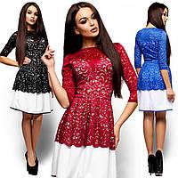 Нарядное кружевное платье Закария (42-46 в расцветках)