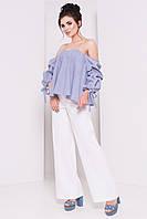 Нарядная женская блуза в полоску