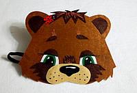 Карнавальная маска на лоб медвежонок. Для сюжетно ролевых игр.