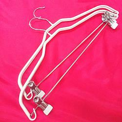 Вешалки металлические с силиконовым покрытием и прищепками для юбок и брюк