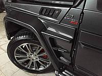 Карбоновые жабры на крыльях Mercedes Benz G class W463