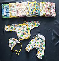 Комплект для новорожденного байка (распашонка+ползунки+шапочка) 56-62 р-р, цвет на выбор