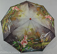"Зонт женский полуавтомат оптом на 9 спиц из стеклопла́стика от фирмы ""MaX"""