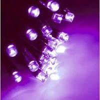 Гирлянда уличная 100LED,10м каучук цвет фиолетовый