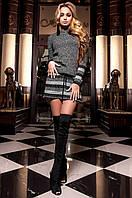 Женское черное платье-туника Мартини Jadone  42-48 размеры
