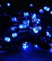 Гирлянда уличная 100LED,10м каучук цвет синий неоновый