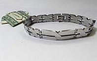 Мужской браслет из  нержавеющей стали, серебристый арт 2153