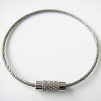 Кольцо/тросик стальной с резьбой замыкающийся для ключей / фонаря / мультитула