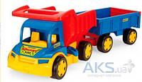Игрушка Wader Большой игрушечный грузовик Гигант с тележкой (65100)