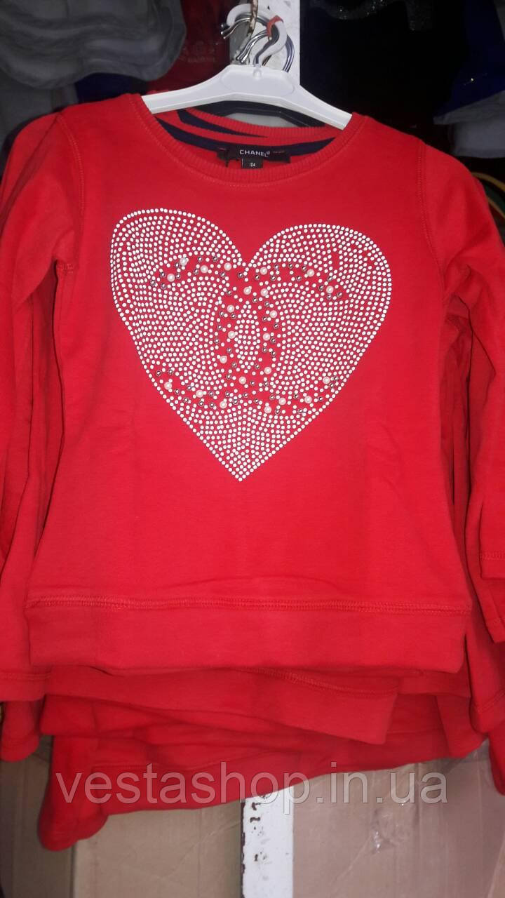 Красная теплая кофта-батник Шанель -