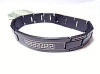 Мужской браслет из  нержавеющей стали, черный арт 2154