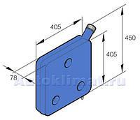 Бачок автономки топливный синий 10л