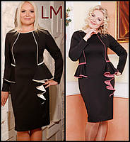 06b571cefb0 Размер 52 Платье женское батал Нимфа черное большого размера вечернее  нарядное