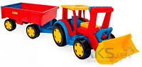 Игрушка Wader Трактор Гигант с прицепом и ковшом (66300)
