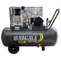 Компрессор двухцилиндровый 100 л ременной Sigma 7044211