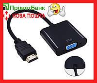 Переходник HDMI to VGA адаптер конвертер эмулятор монитора ( Майнинг riser райзер )