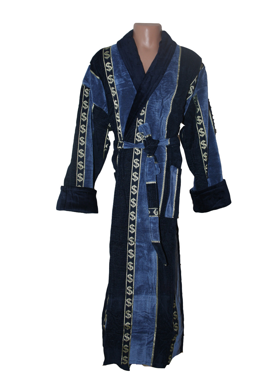 Доллар синий халат махровый мужской 4XL Sokuculer