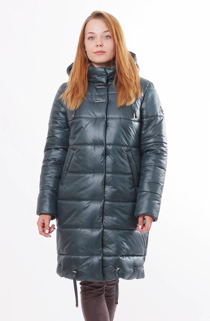 Женская зимняя куртка из плащевки
