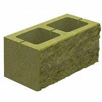 Блок бетонний Квадра 400x200x200 мм гірчичний