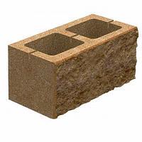 Блок бетонний Квадра 400x200x200 мм персиковий