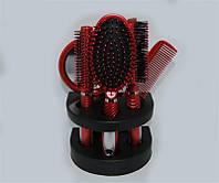 Набор расчесок 5 шт в коробке для волос YRE Красный