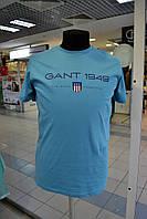 Мужская футболка GANT голубая