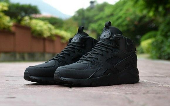 659973ad Мужские кроссовки Nike Air Huarache High еврозима/осень черные топ реплика  - Интернет-магазин