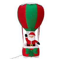 Надувная Новогодняя Фигура Дед Мороз на парашюте 180 см, декор на улицу Новый год