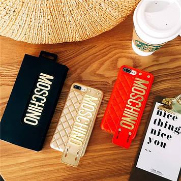 """Iphone 6 / 6s / 6plus оригинальный кожаный чехол панель бампер накладка НАТУРАЛЬНАЯ КОЖА """" Moschino """""""