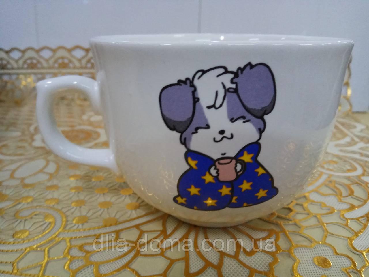 Чашка аппетитка сніжка з декол собаки