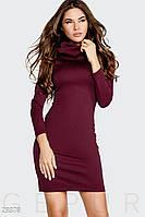 Платье женское марсала с капюшоном