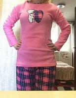 Пижама флисовая с длинным рукавом 48р ,доставка по Украине