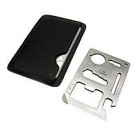 Мультитул кредитная карта / кредитка / визитка, многофункциональный инструмент 11-в-1