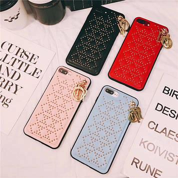 """Iphone 6 / 6s / 6plus оригинальный кожаный чехол панель бампер накладка НАТУРАЛЬНАЯ КОЖА """" Dior """""""