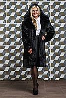 Шикарная женская шуба на молнии больших размеров,эко-мех