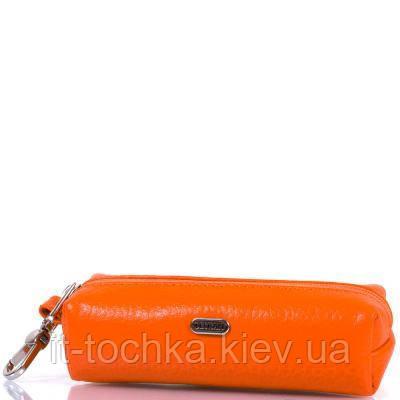 Женская кожаная ключница desisan shi207-374 оранжевая