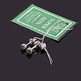 Серебряные серьги гвоздики с цветным камушком, фото 3