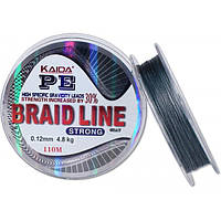 Шнур Braid Line Kaida strong 110m/0.10mm