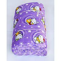 Ткань ранфорс Турция - Hello Kitty liliac лиловый 56264. Турция