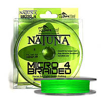 Шнур DuraKing Natuna Micro X4 Bride 100m. 0.4/0.10mm. /13Lbs. /5.9kg. (Fluo Green)