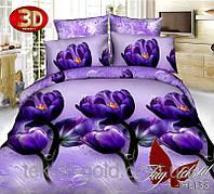 Комплект постельного белья  Семейный ТМ TAG Полисатин PS-HL135