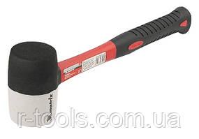 Киянка резиновая 225 г черно белая резина фибергласовая рукоятка MTX 111709