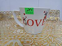 Чашка конус снежка с декол валентинки
