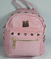 Рюкзак- сумка для девочки подростка светло розовая