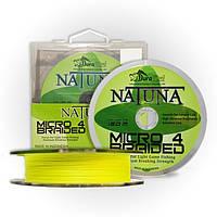 Шнур Natuna Micro X4 Braid 300m./0.08mm./5.0kg. (Fluo Yellow)
