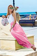 Розово-белое платье в пол Gepur 12296