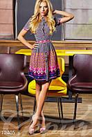 Интересное платье-рубашка с рисунком Gepur 12405